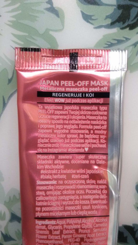 Bielenda japan peel-off maska regenerująca