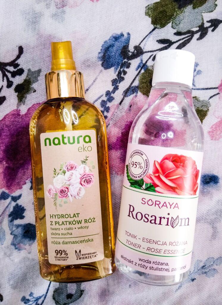 hydrolat z płatków róż Natura eko i tonik Soraya Rosarium